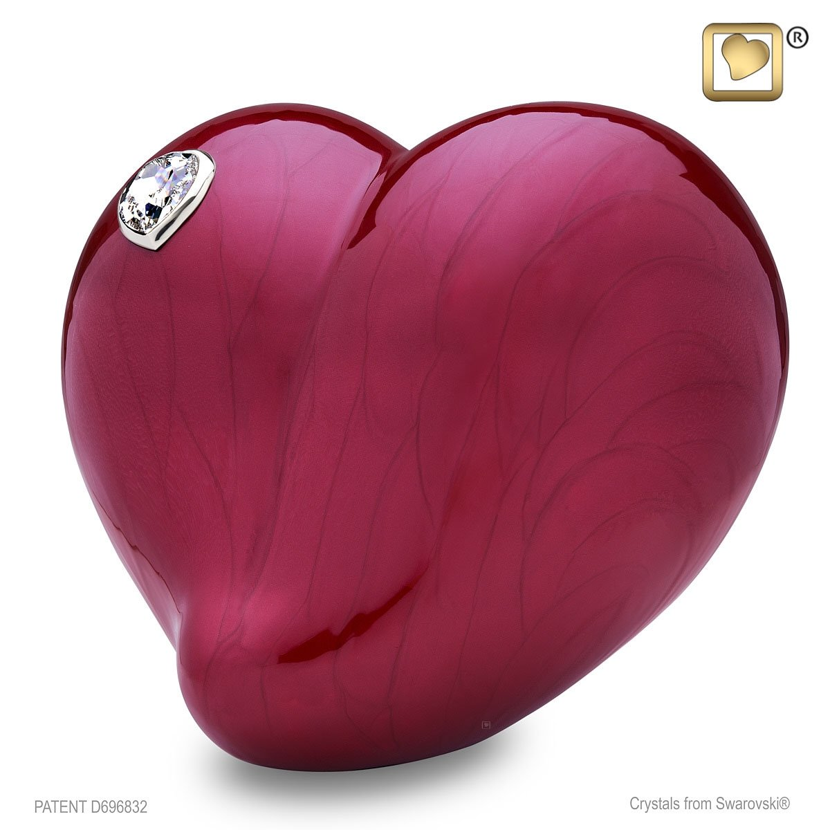 Love Heart Adult Cremation Urn by LoveUrns