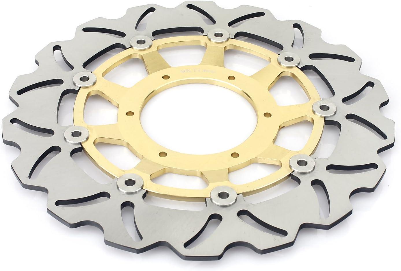 TARAZON 2+2 Front Brake Rotors Disc /& Brake Pads for Honda CBR 600 RR CBR600RR 03 04 Gold