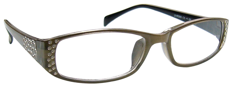La Compañía Gafas De Lectura Beige El Frente Diamonte Lectores Mujeres Señoras Inc Caso UVR085 Diopt...