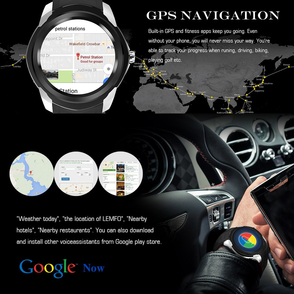 Lemfo LF17 Smartwatch Android 5.1, 512 MB de RAM, 4 GB de ...