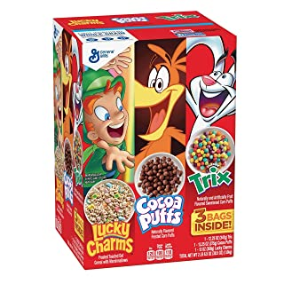 Product of General Mills Lucky Charms, Cocoa Puffs and Trix Cereal Variety Pack,