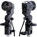 YISITONG Photo studio E27 Bulb Holder Socket Flash Umbrella Swivel Bracket Photo Light Lamp Mount New