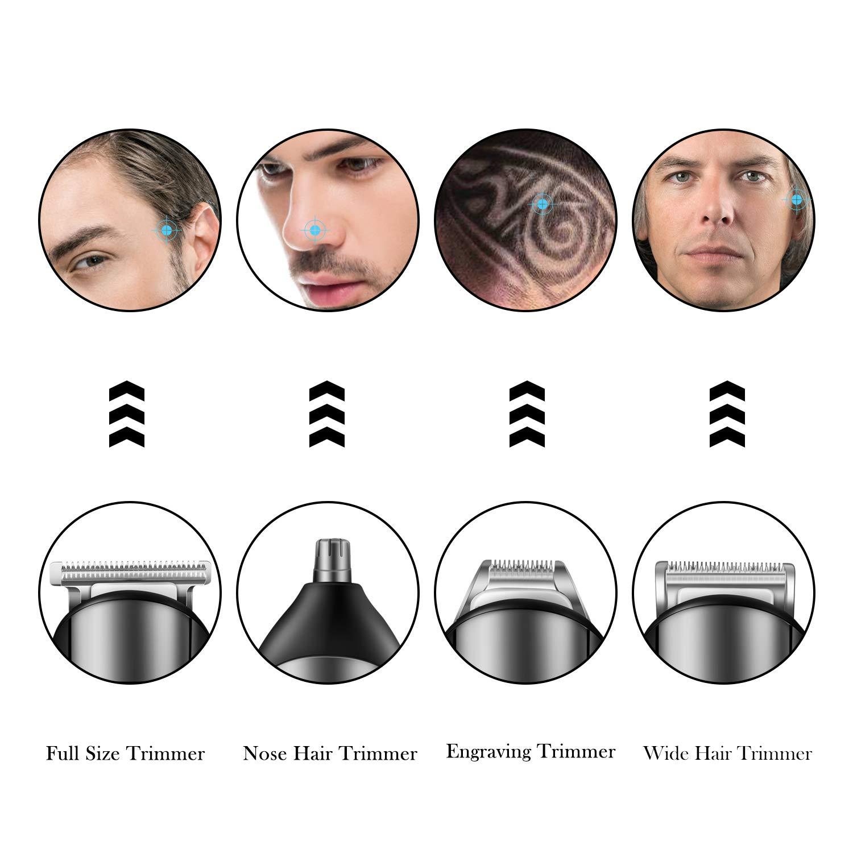 4 In 1 Mens Beard Trimmer Grooming Kit, Cordless Hair Clipper Mustache Trimmer