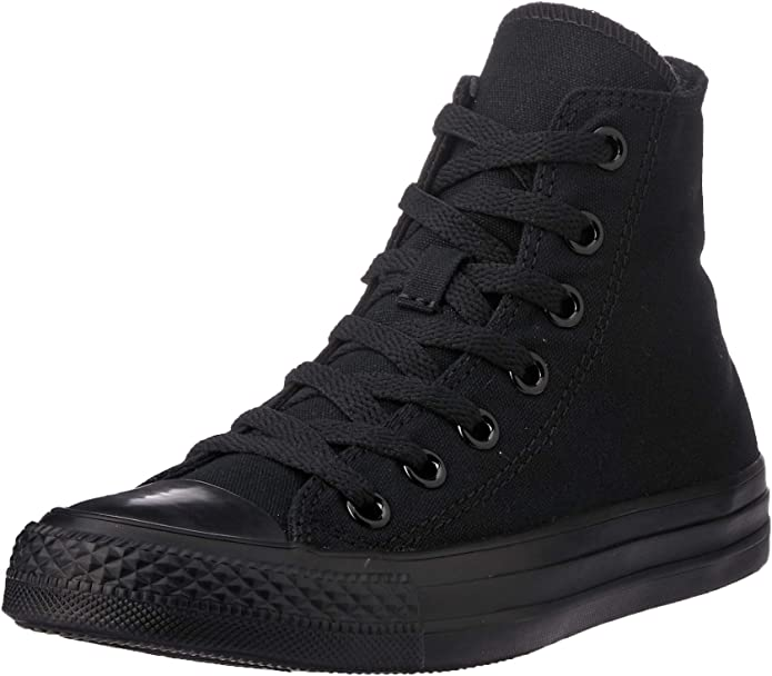 Converse Chucks (Chuck Taylor) All Star High Top Unisex Damen Herren ganz Schwarz