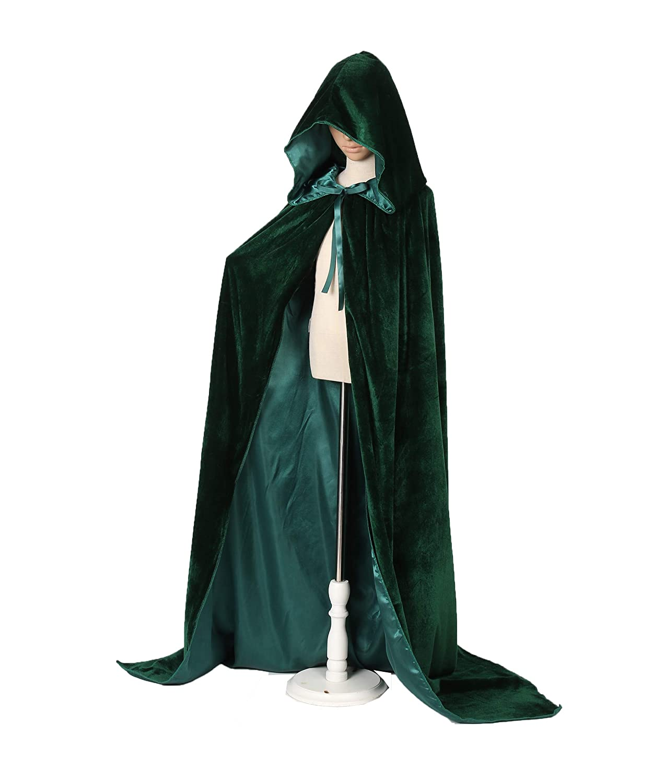 Reverse Velvet Hooded Cloak Reversible Cloak with Hood Adult