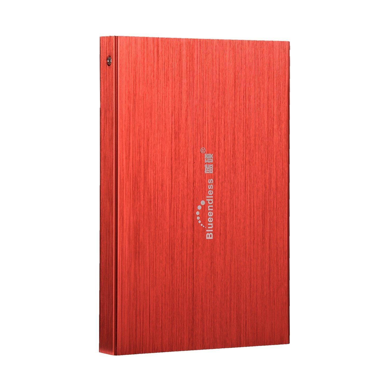 Blueendless 2.5'' HDD 60GB Portable External Hard Drive desktop laptop (RED)