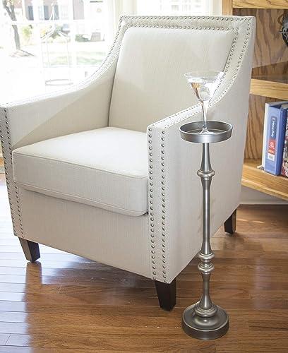 NewRidge Home Goods Side Brushed Silver Finish