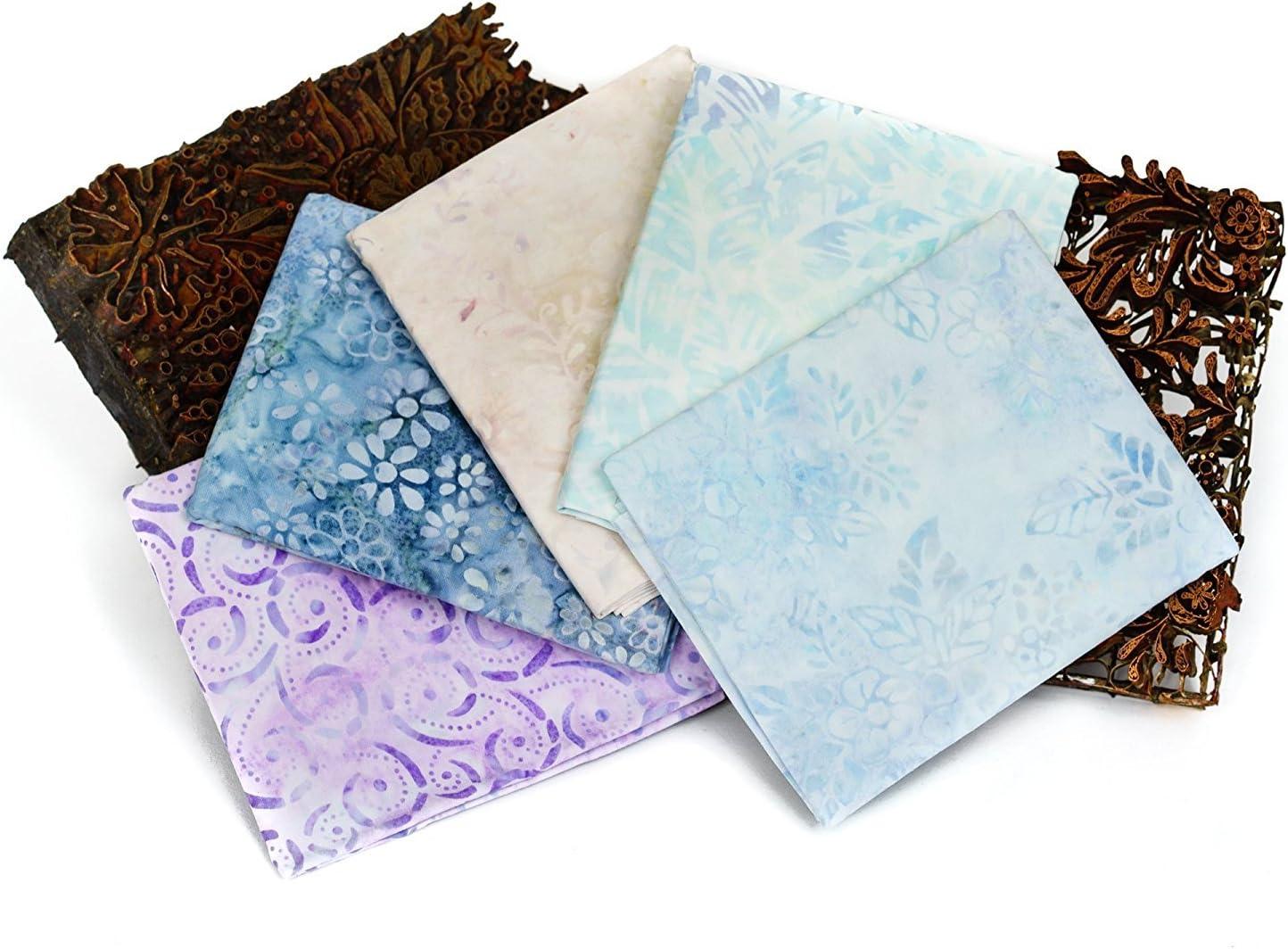 Bali Batiks Premium Batik Half Yard Cuts Pack of 5 2.5 Yards Total