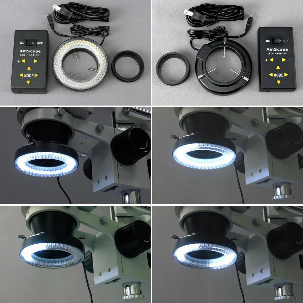 3,5 x -90 trinocular Amscope Stereo-Mikroskop mit 4-zone 4-zone 4-zone 144-led Ring-Licht  10 MP Kamera B0725JHDG7 | Bestellung willkommen  | Ausgezeichnete Qualität  | Primäre Qualität  a5922c