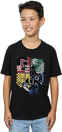 HARRY POTTER niños Hogwarts Varsity Camiseta 12-13 Years Negro