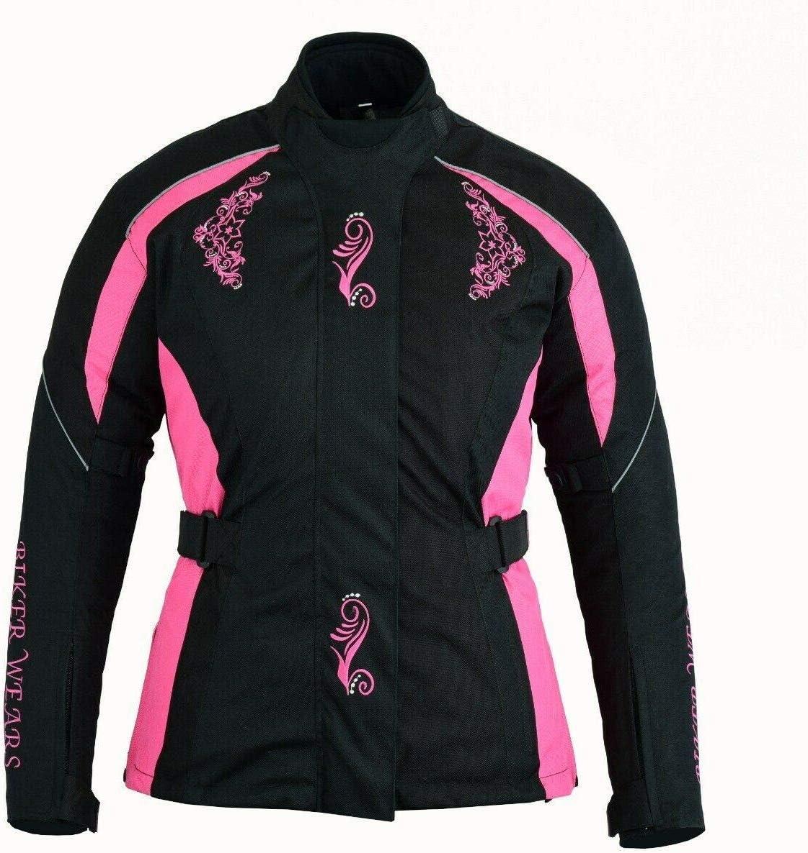 Taille moyenne Manteau imperm/éable de veste de moto de Cordura de moto de moto de textile de femmes pour des dames