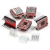 Hobbypower A4988 StepStick Stepper Motor Driver Module + Heat Sink for 3D Printer Reprap (pack of 5 pcs)