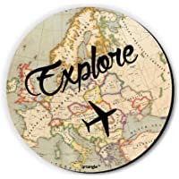 Fridge Magnet Explore by Seven Rays, Dimensions - 3 X 3 Inches, Round