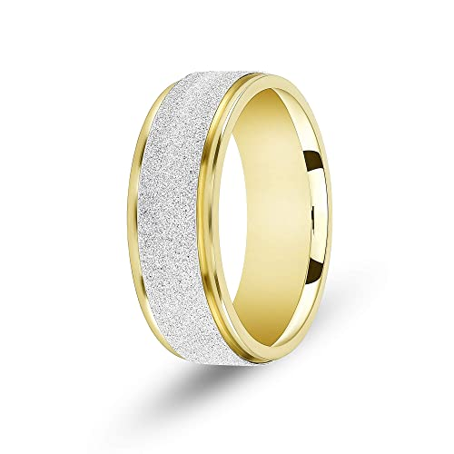 Amazon Com Tousiattar Mens Wedding Bands 18 K Or 14k Handmade