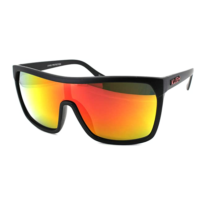 Amazon.com: Kush Futuristic Shield Gangster Gafas de sol ...