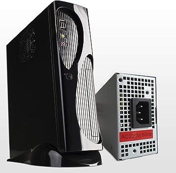 Hiditec | Pack Torre de PC TAC03 y Fuente de Alimentación TFX 300W | Formato Slim ITX | Caja pequeña | Diseño Elegante | Carcasa Resistente | Materiales de Calidad: Amazon.es: Informática