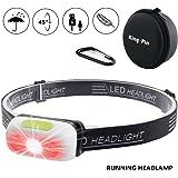 LED Stirnlampe Kopflampe USB Wiederaufladbare Wasserdicht Leichtgewichts Mini Stirnlampe 7 Leuchtmodi Perfekt fürs Laufen Jogging Campen Radfahren