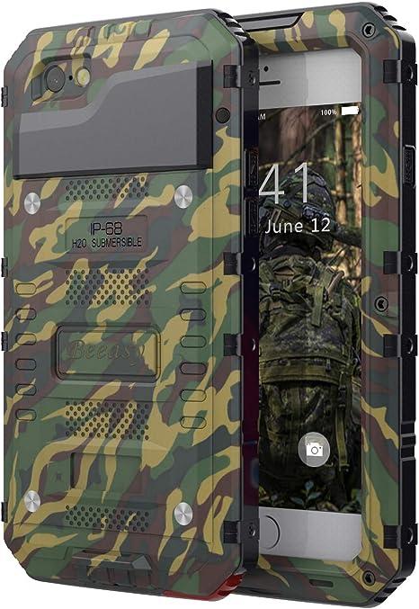 Funda Antigolpes para iPhone 6 Plus /6S Plus,Beeasy Carcasa Impermeable Robusta Blindada Heavy Duty Anticaídas Dura Hermética Grado Militar Metálica con Protector de Pantalla al Aire Libre,Camuflaje: Amazon.es: Electrónica