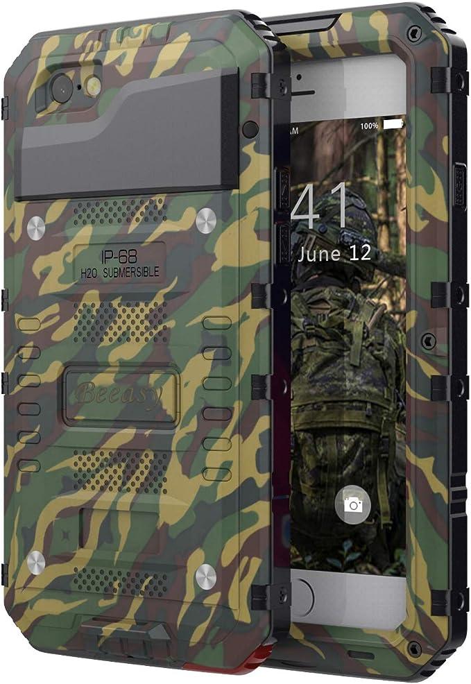 Beeasy Coque iPhone 6 Plus/6S Plus Étanche,Antichoc Protecteur d'Écran Intégré Robuste Résistant Metal IP68 Antipoussière Qualité Militaire Étui pour ...
