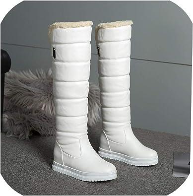 tiryiity Winter Boots Women Warm Knee
