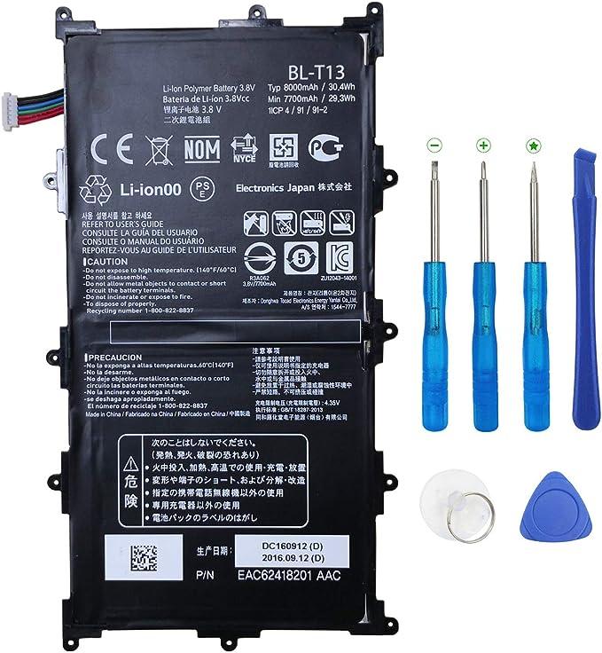 "For LG G Pad Tablet 10.1/""  V700 New Original  Battery BL-T13 7700mAH"