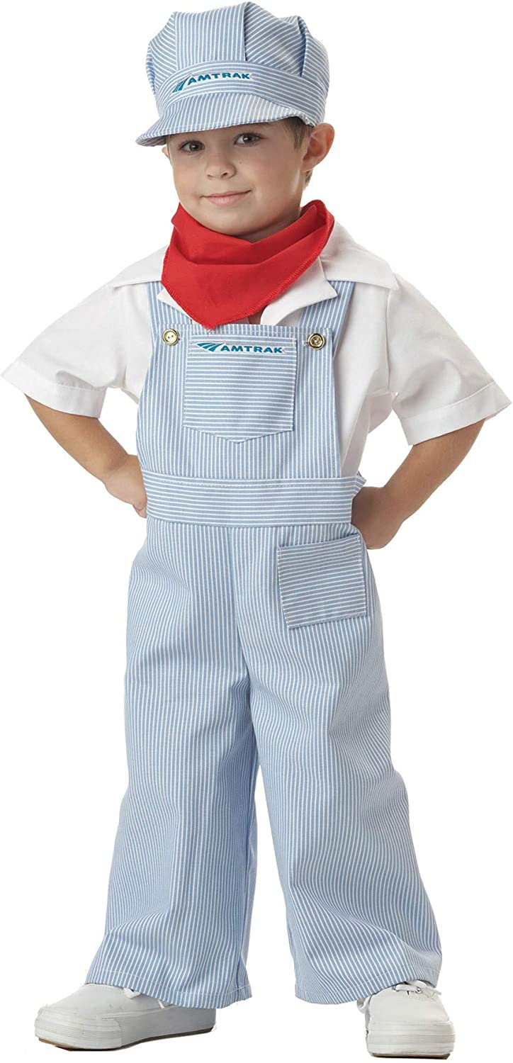 Toddler Train Engineer Conductor Kids Halloween Costume