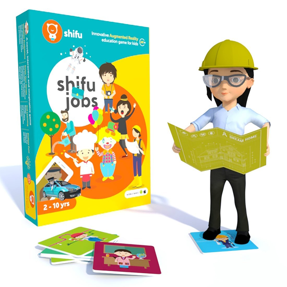 Shifu Professions - 4D Educational, Augmented Reality Based Game | 60 Community Workers Flashcards | STEM Learning Toy For Toddles, Preschool, Girls & Boys, 2 to 10 years | Ideal Gift for Kids