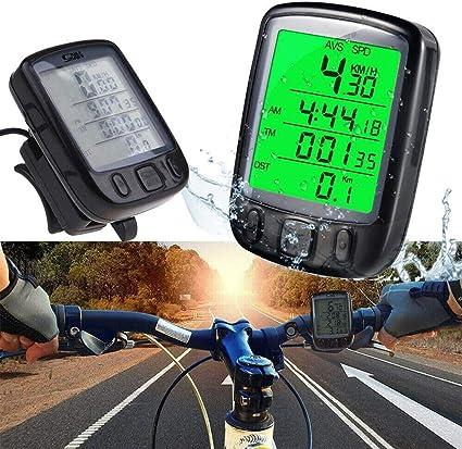 Mesigu US LCD Digital Ciclo Bicicleta Bicicleta Retroiluminación ...