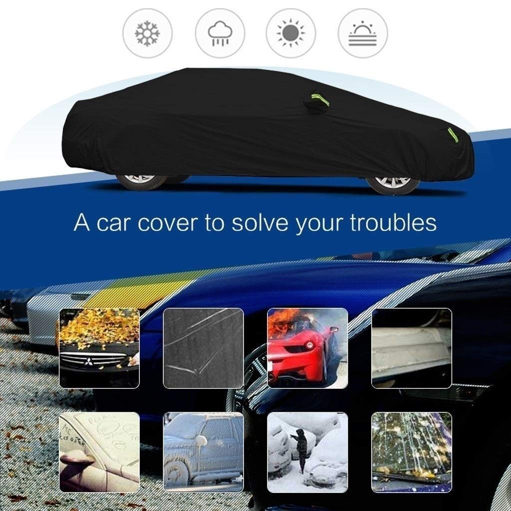 Jsmhh Compatible with BMW i3 Car Cover Waterproof Breathable Thick Sun Protection Rain Tarpaulin Canvas (Color : A-Oxford Cloth - Built-in lint) by Jsmhh