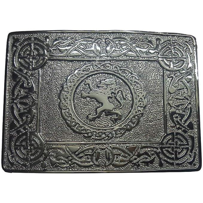 Belt Buckle Scottish Kilt Thistle Emblem Celtic Knots Antique Finish Brand AAR