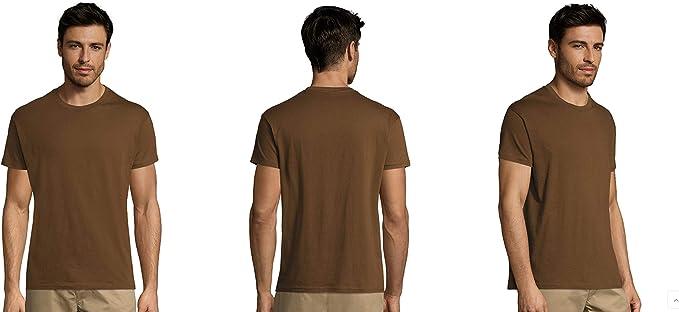 Pack DE 3-5-10-25 -50 o 100 Camisetas Marrones 100% Algodon Unisex ...