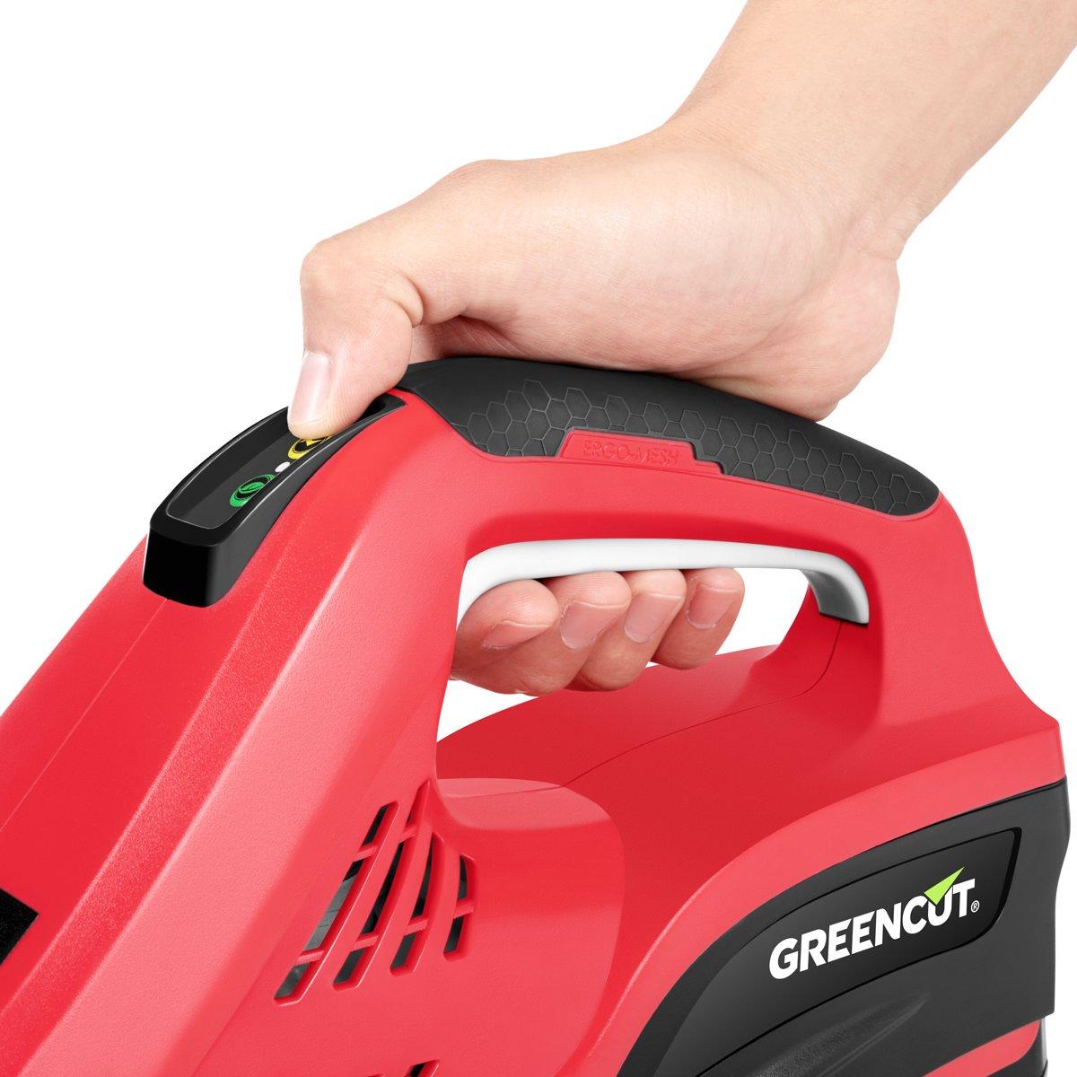 Greencut GHT40LI-ION - Cortasetos con batería de lítio de 40V, con ...
