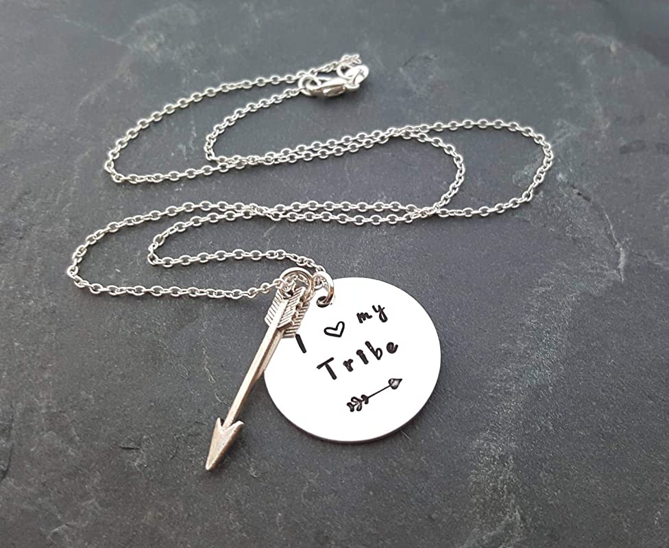 Your vibe attracts your tribe necklace \u2022 copper stamped necklace \u2022 tribe necklace \u2022 positive vibe jewelry \u2022 tribe stamped necklace