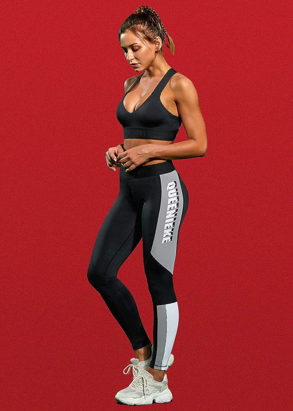 QUEENIEKE Women Workout Leggings Full-Length Buttery Soft Yoga Pants Running 90327