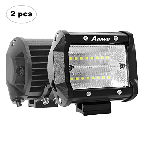 AAIWA Foco Led,Faro Luz 48w 2pcs, Focos LED de Trabajo,Luces Antiniebla