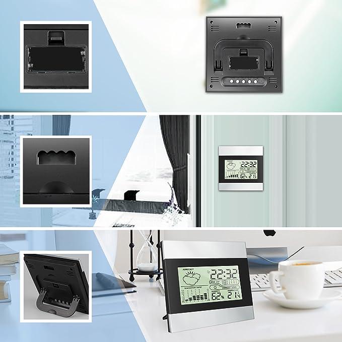 Termómetro Higrómetro Digital Interior Exterior, Medidor Temperatura y Humedad, Función de Memoria, Grabadora de Max/Min (Plata): Amazon.es: Salud y cuidado ...