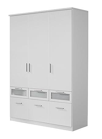 Rauch Kleiderschrank 3-türig Weiß Alpin mit Schubladen, BxHxT ...