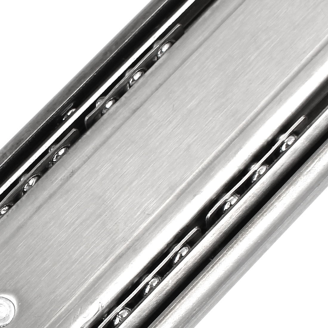eDealMax 18 pulgadas Longitud 45 mm Anchura 3-Sección cojinete de bolas 2pcs Cajones Rail - - Amazon.com