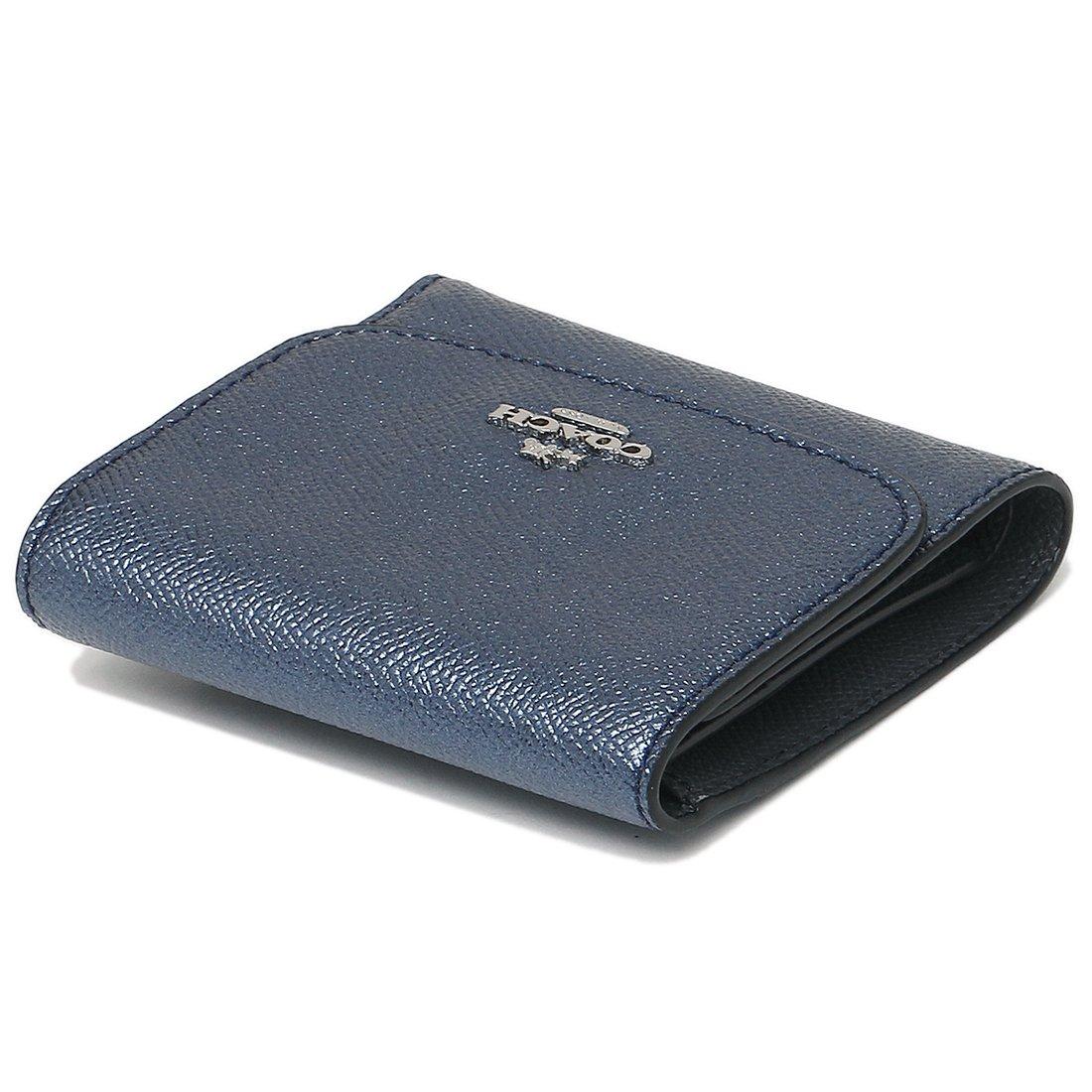 d0dbbee91fa7 Amazon   (コーチ) 財布 アウトレット COACH F21069 SVLBI レディース 二つ折り財布 メタリックネイビー [並行輸入品]    COACH(コーチ)   財布