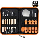 Halloween Pumpkin Carving Tools,Elmchee Halloween Jack-O-Lanterns 13 Piece Professional pumpkin cutting supplies tools Kit stainless steel lengthening and thickening