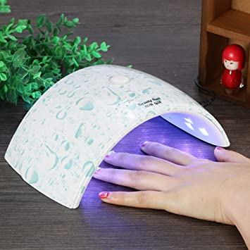 Amazon.com: Uñas UV lámpara, 36 W 18LEDs Luz LED Secador de ...