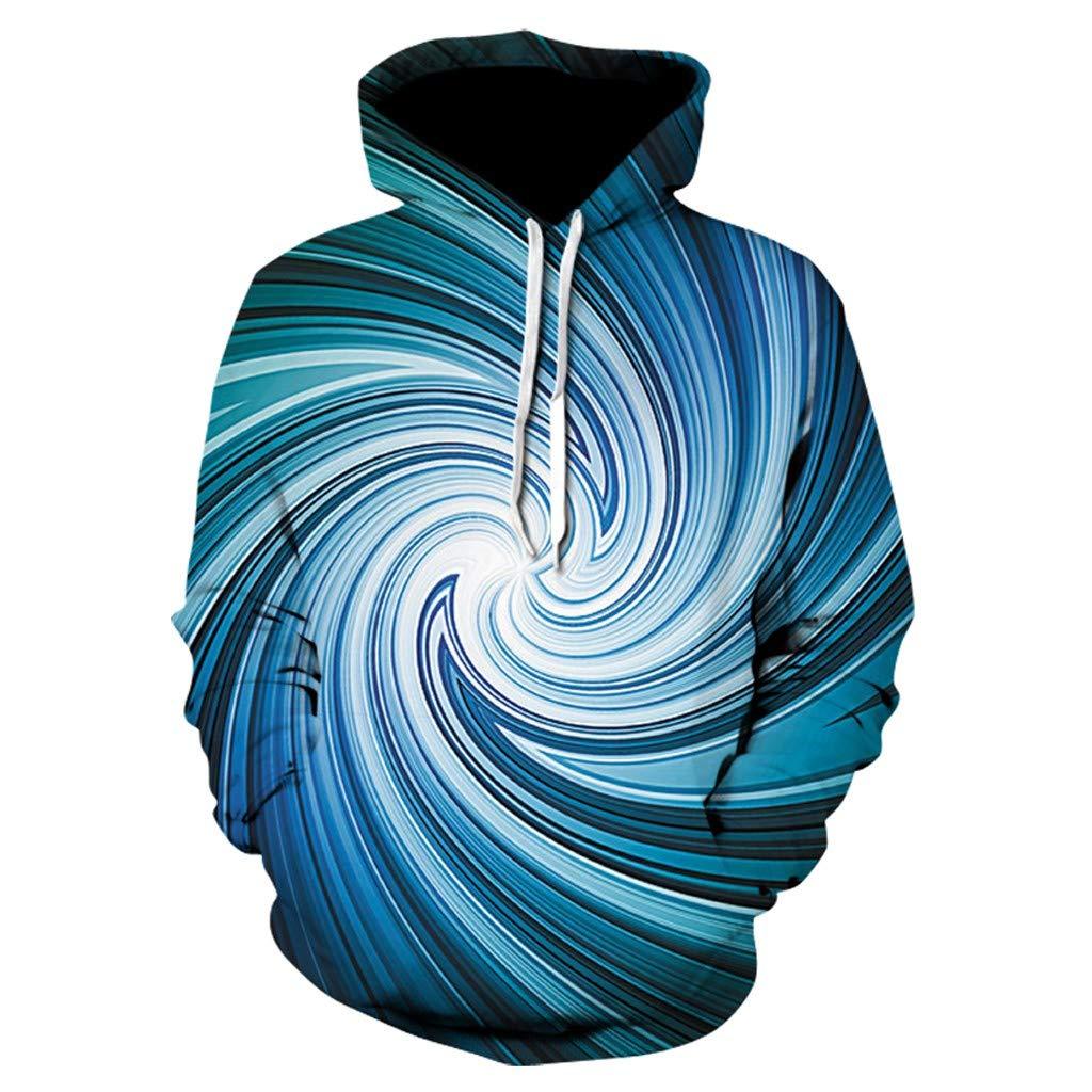Unisex Realistic 3D Print,AcisuHu-Spiral Starry Sky Pattern Pullover Hoodie Hooded Sweatshirt for Student Girls