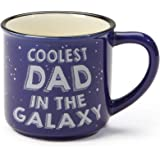 "Our Name is Mud ""Coolest Dad"" Space Stoneware Camping Coffee Mug, 16 oz."