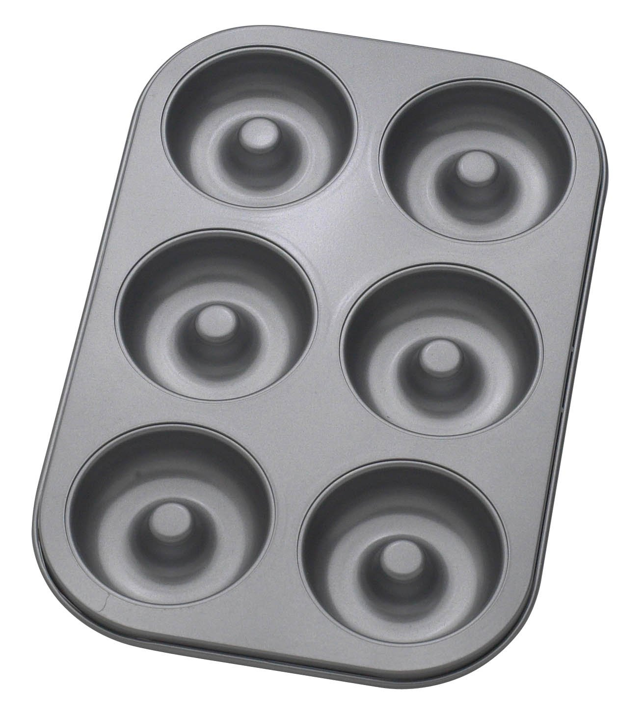 Mrs. Anderson's Baking 43710 6-Cup Donut Pan, Carbon Steel with Quick-Release Non-Stick Coating