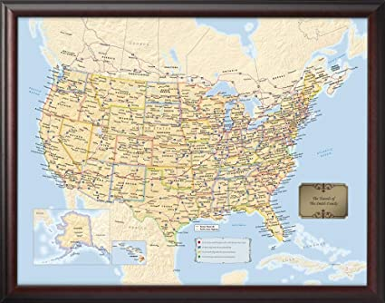 Personalized Us Map.Amazon Com Personalized U S Traveler Map Posters Prints