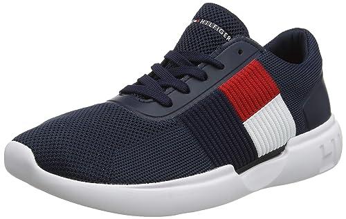 Tommy Hilfiger Lightweight Runner Flag Knit, Sneakers Basses Homme
