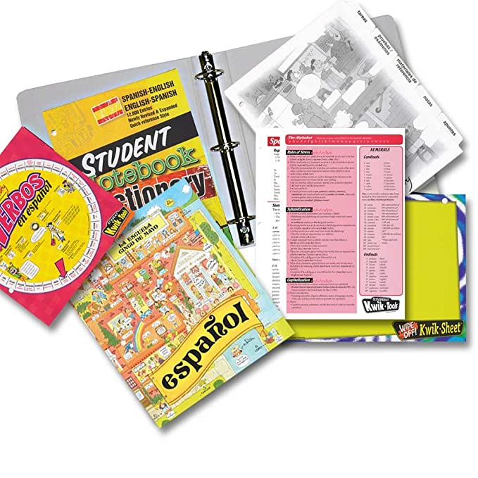 Amazon.com : Complete Deluxe Starter Binder Spanish : Portfolio Ring Binders : Office Products