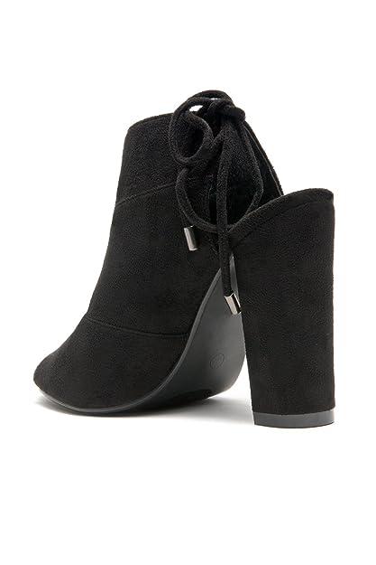 1314b6997f9c6 Herstyle Women's Mocha - Laser Cut, Chunky Heeled Sandals