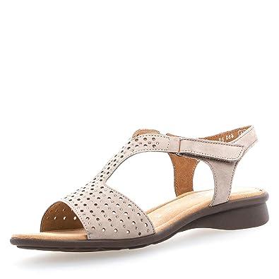 Gabor 86.064 33 Damen Sandale aus Nubukleder mit Textilinnenausstattung