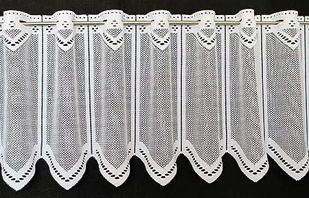 Colour: Blanc Rideaux Cuisine Rideaux Brise-bise Neutre 30 cm de Haut Vous Pouvez Choisir la Largeur des Rideaux par paliers de 12,5 cm